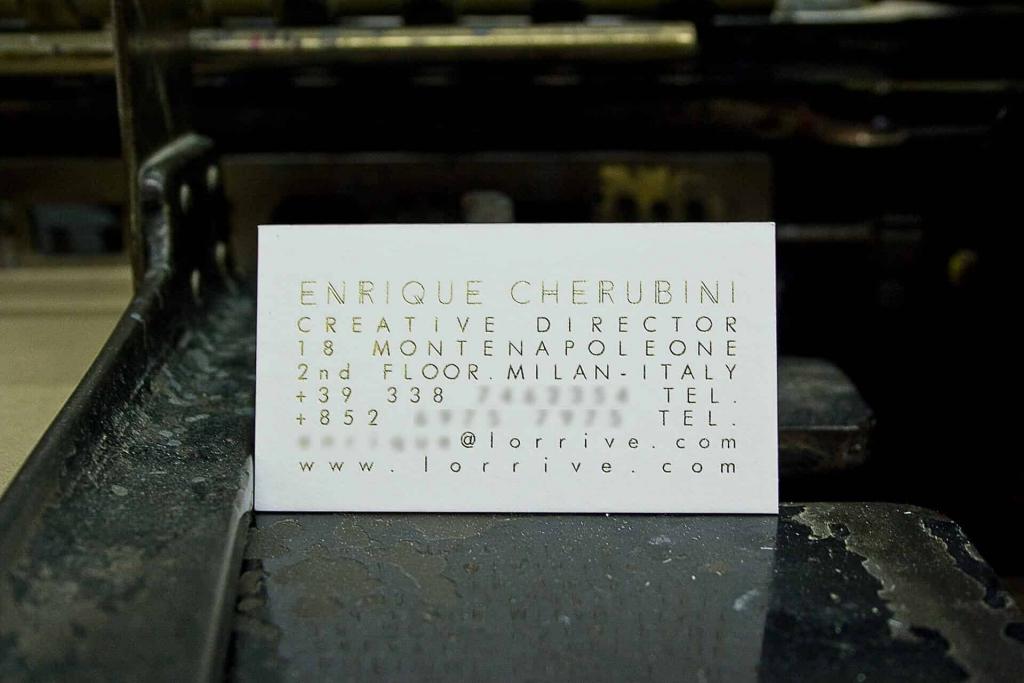 Tipografia Pezzini: biglietti da visita Enrique Cherubini