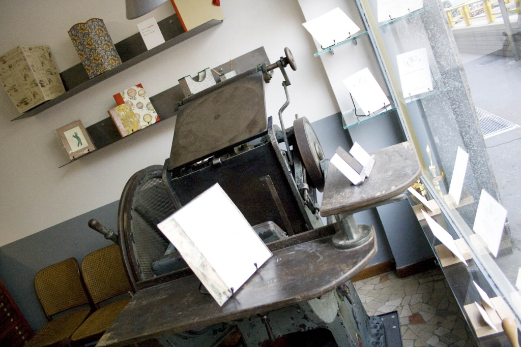 Tipografia Pezzini: la pedalina in vetrina