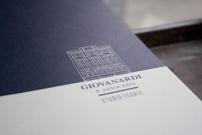 Tipografia Pezzini: cartellina portadocumenti per Giovanardi Studio Legale