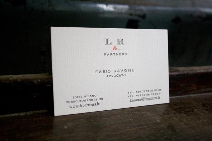 Tipografia Pezzini: biglietto da visita LR & Partners
