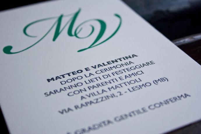 Tipografia Pezzini: partecipazioni di matrimonio