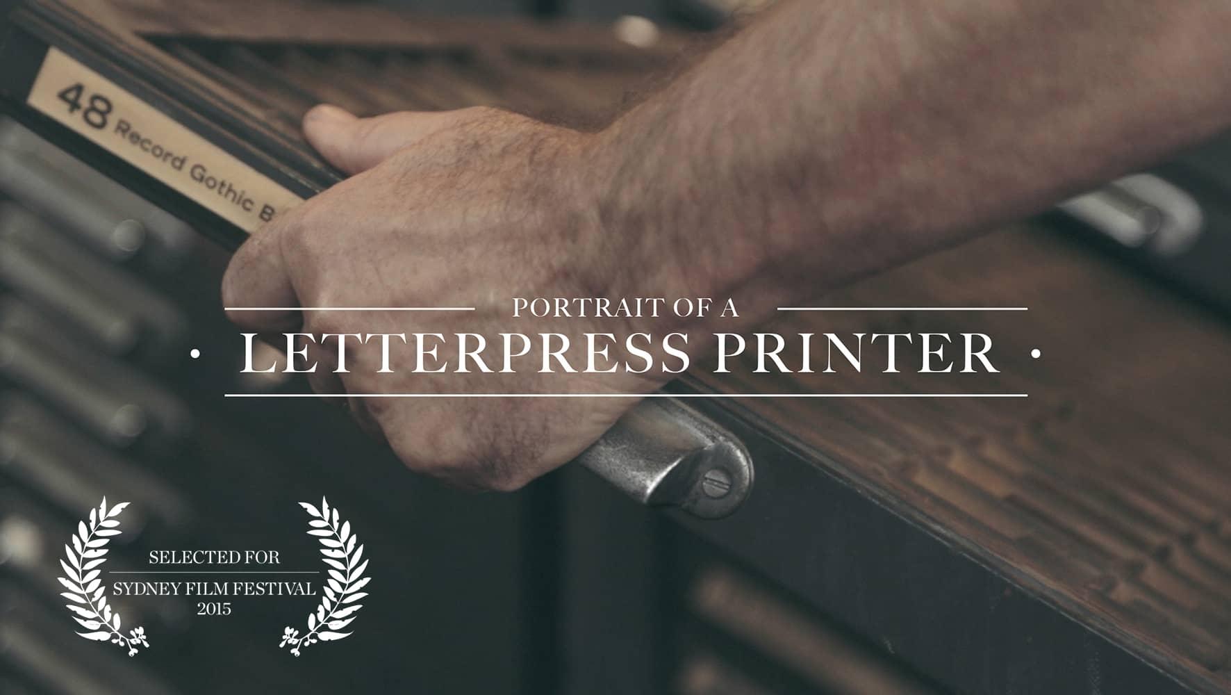 Ritratto di un tipografo