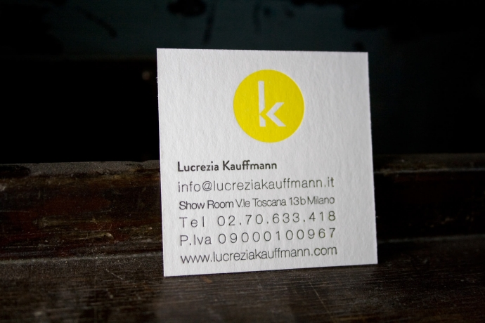 Biglietto da visita in letterpress