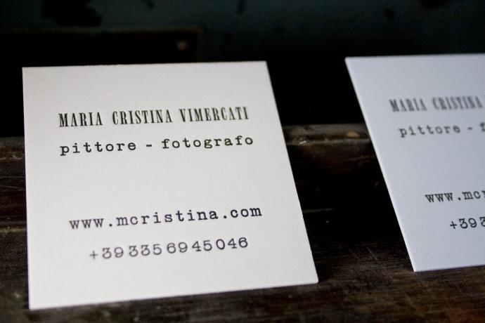Biglietti da visita in letterpress