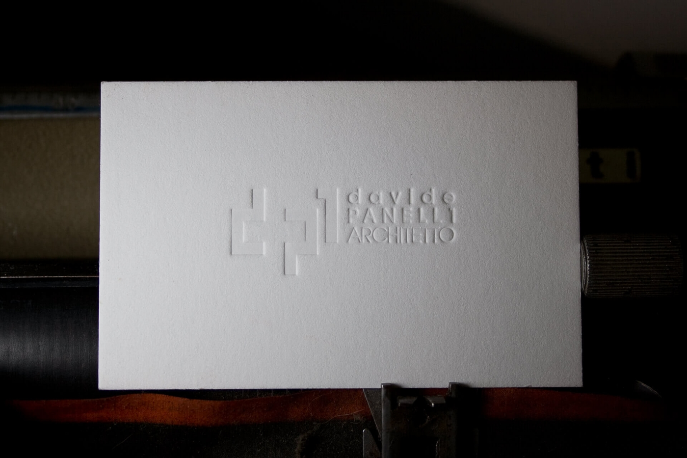 Biglietti da visita in letterpress per larchitetto Davide Panelli ...