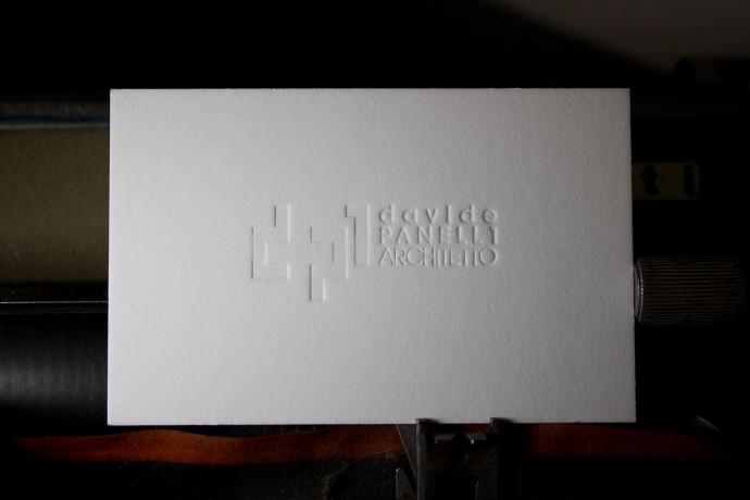 Biglietto da visita in letterpress per Davide Panelli