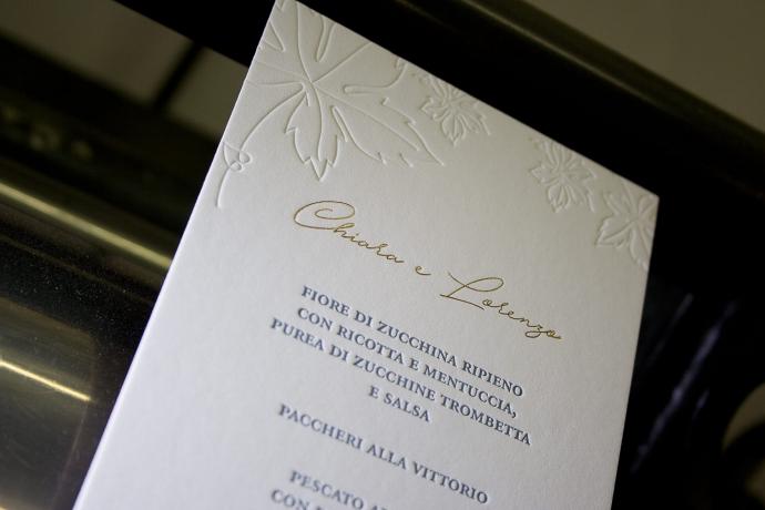 Partecipazioni di matrimonio in letterpress