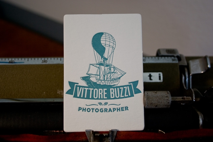 Biglietto da visita in letterpress per un fotografo