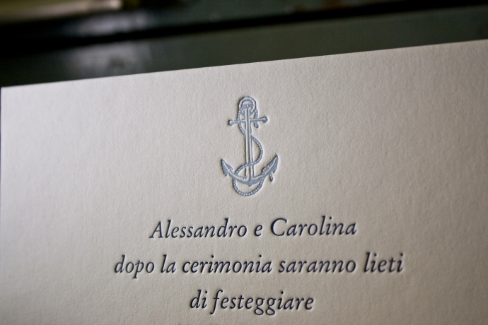 Partecipazione di nozze in letterpress