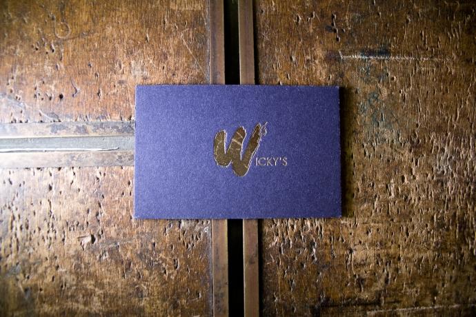 Biglietto da visita in letterpress per Wicky's