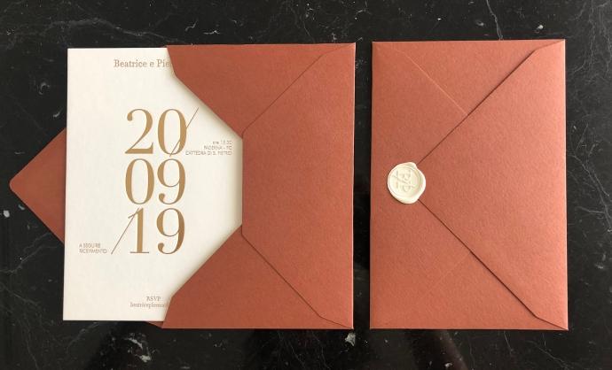 Partecipazioni di nozze letterpress